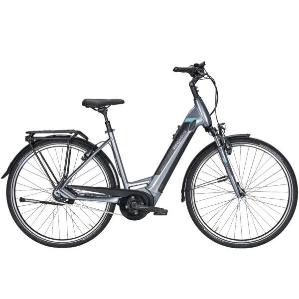 Pegasus Premio Evo 5F elektromos kerékpár ezüst színben
