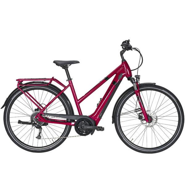 Pegasus Solero Evo 9 elektromos kerékpár bordó színben