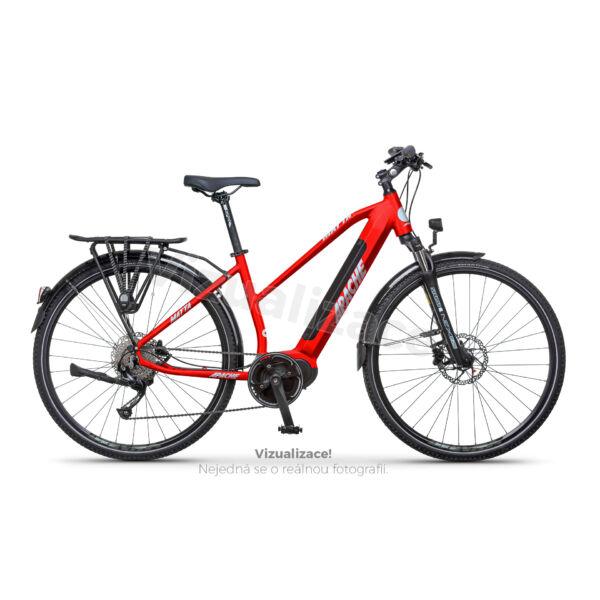 Apache Matta Tour MX5 elektromos kerékpár piros színben, női vázzal