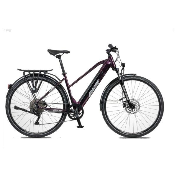 Apache Matta Tour E5 elektromos kerékpár padlizsán színben