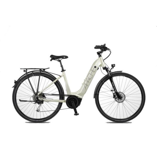 Apache Sota elektromos kerékpár krém színben unisex komfort vázzal