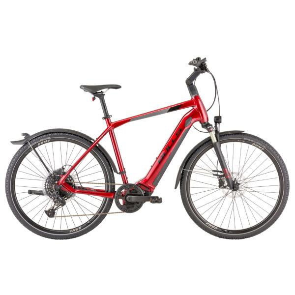 """Bulls Cross Rider Evo 2 elektromos kerékpár """"dark chrome red"""" színben"""