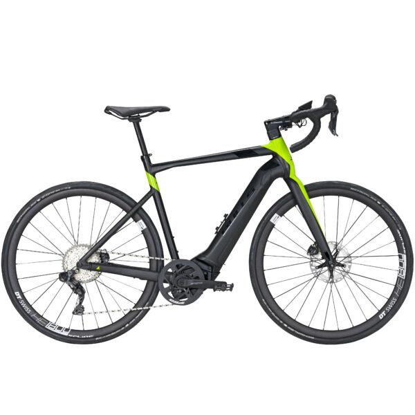 """Bulls Desert Falcon Evo elektromos kerékpár """"black matt/metallic lime"""" színben"""