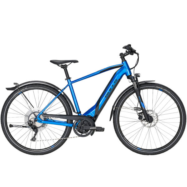 Bulls Lacuba Evo Cross elektromos kerékpár férfi vázzal 'chrome blue/black matt' színben