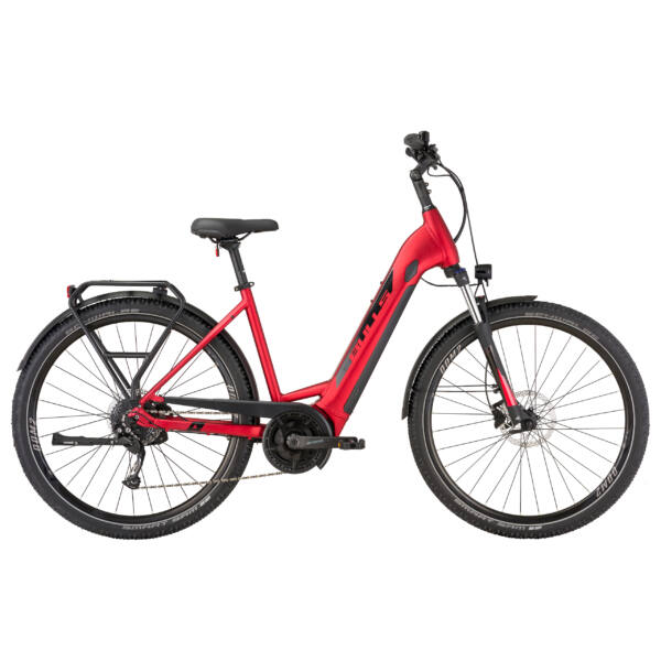 Bulls Landscape Evo elektromos kerékpár unisex komfort vázzal, piros színben