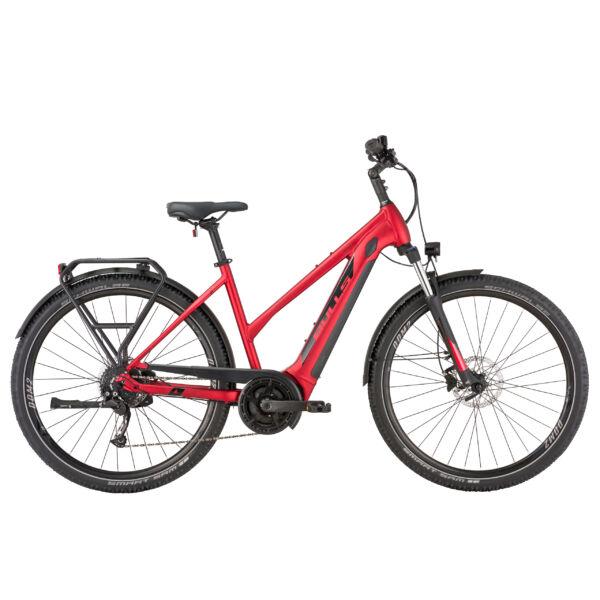 Bulls Landscape Evo elektromos kerékpár női vázzal, piros színben