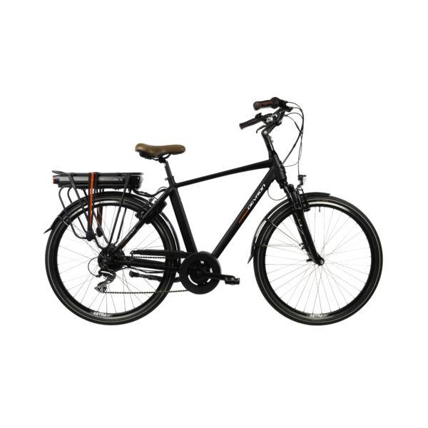 Devron 28221 elektromos kerékpár férfi vázzal fekete színben