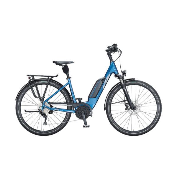 KTM Macina Fun P510 elektromos kerékpár kék színben