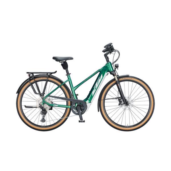 KTM Macina Style 620 elektromos kerékpár zöld színben