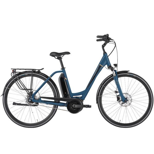 Pegasus Ancura E8R Disc elektromos kerékpár unisex komfort vázzal kék színben