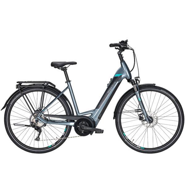 Pegasus Premio Evo 10 elektromos kerékpár grafit színben, unisex komfort vázzal