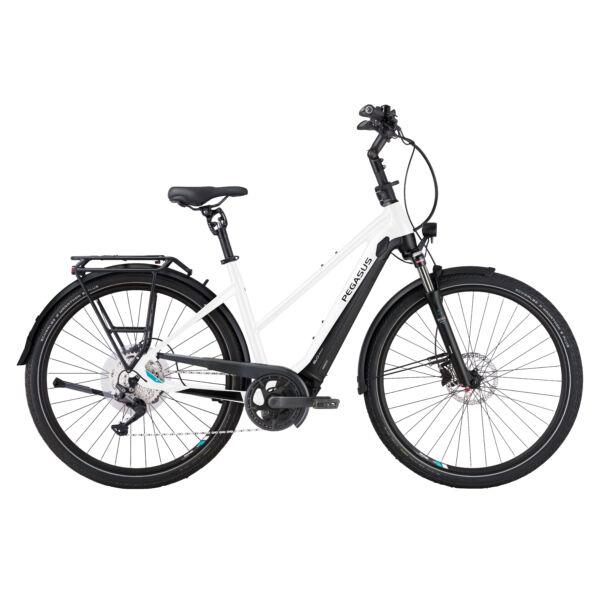 Pegasus Premio Evo 10 Lite Comfort elektromos kerékpár női vázzal, fehér színben