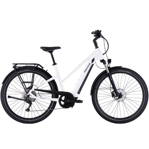 Pegasus Savino Evo 10 CX női vázas SUV elektromos kerékpár fehér színben