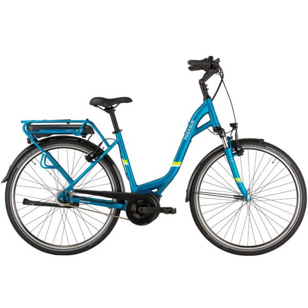 Pegasus Solero E8F Plus elektromos kerékpár unisex komfort vázzal, türkiz színben