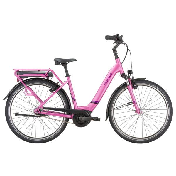 Pegasus Solero E8R Lite elektromos kerékpár komfort vázzal pink színben