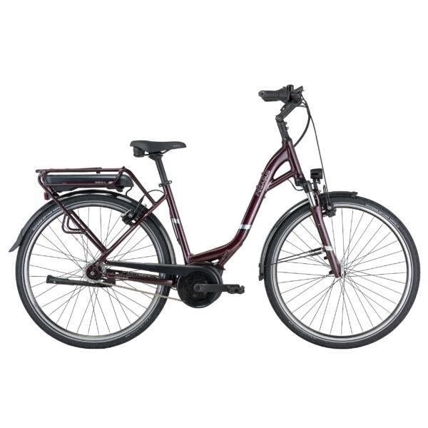 Pegasus Soler E8R Plus elektromos kerékpár unisex, komfort vázzal padlizsán színben