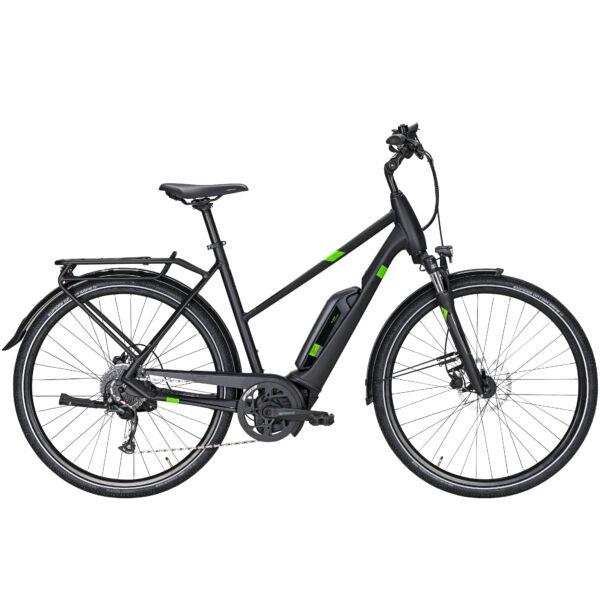 Pegasus Solero E9 Sport CX elektromos kerékpár női vázas, fekete színben