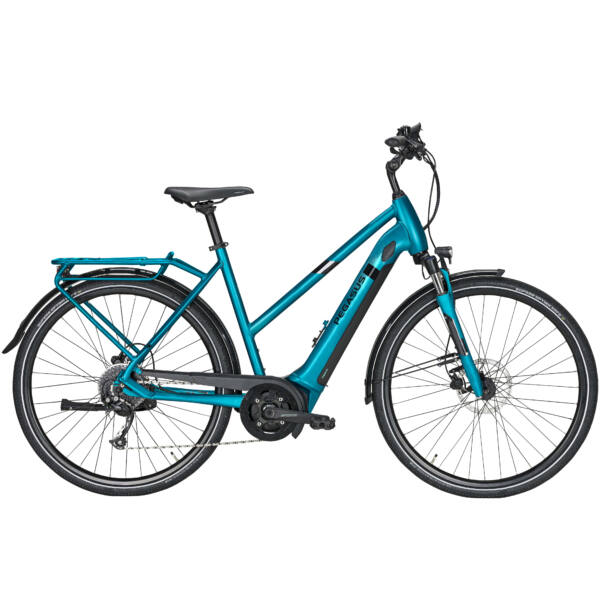Pegasus Solero Evo 9 elektromos kerékpár, női vázas türkiz színben
