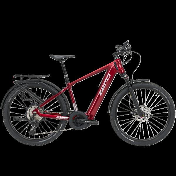 Zemo SU-E 12 elektromos SUV kerékpár férfi vázzal piros színben