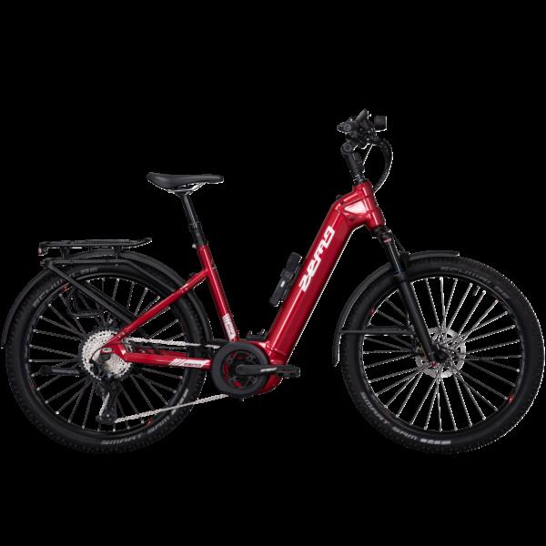 Zemo SU-E 12 elektromos SUV kerékpár unisex komfort vázzal piros színben