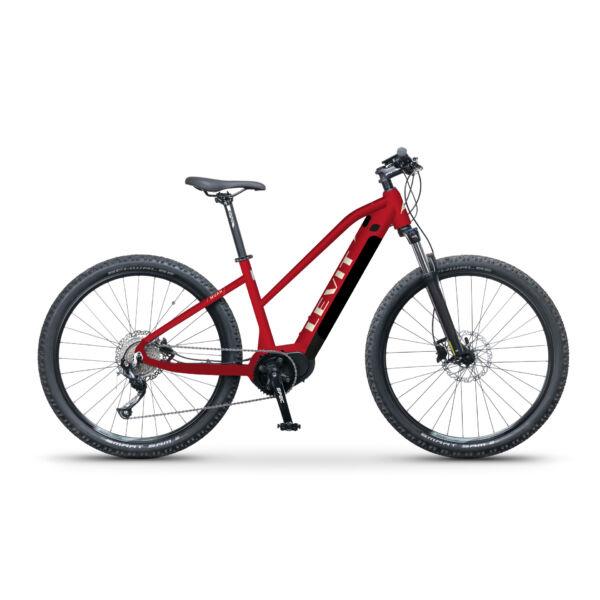 LEVIT Muan MX 3 468 elektromos mountain bike kerékpár piros színben, trapéz vázzal