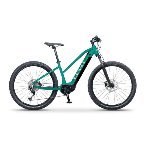 LEVIT Muan MX 3 468 elektromos mountain bike kerékpár türkiz színben, trapéz vázzal