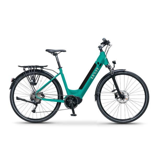 LEVIT Musca MX 630 elektromos kerékpár komfort vázzal türkiz színben