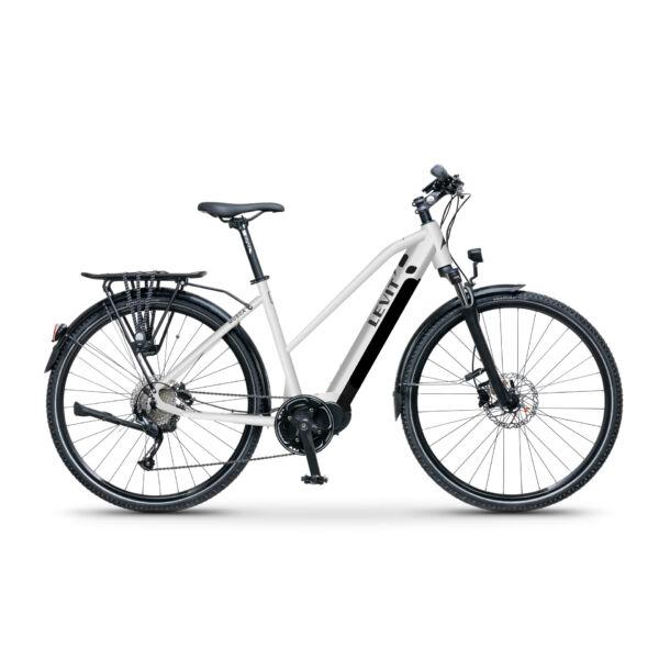 LEVIT Musca MX 630 elektromos trekking kerékpár női vázzal, fehér színben