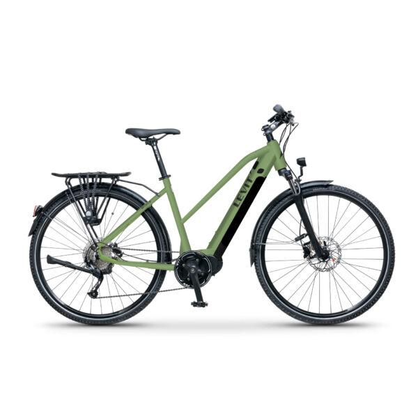 LEVIT Musca MX 630 elektromos trekking kerékpár női vázzal, olivazöld színben