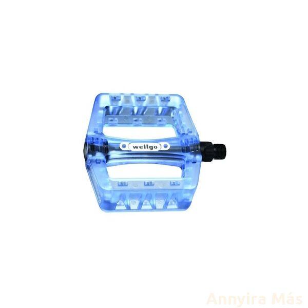 Pedál Wellgo B107P kék, törhetetlen polikarbonát