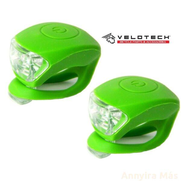 Villogó Velotech Zöld