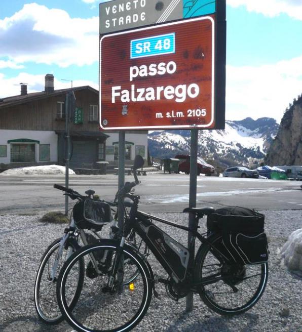 Elektromos kerékpár túra a Dolomitokban